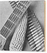 Mexican Revolution, Guitar, Corn Wood Print