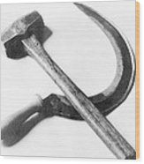 Mexican Revolution Hammer And Sickle Wood Print