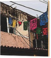 Mexican Street Wood Print
