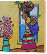 Mexican Street Vendor Wood Print