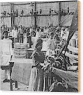 Mexican Textile Factory Wood Print