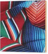 Mexican Textiles Playa Del Carmen Mexico Wood Print