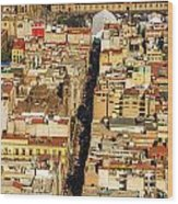 Mexico City Cathedral And Zocalo Wood Print by Jess Kraft