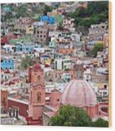 Mexico, Guanajuato, View Of Guanajuato Wood Print
