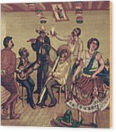 Mexico: Hat Dance Wood Print