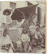 Mexico Market, C1915 Wood Print