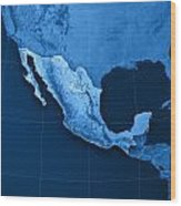 Mexico Topographic Map Wood Print by Frank Ramspott
