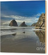 Meyers Creek Beach Wood Print