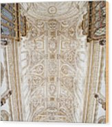Mezquita Cathedral Ceiling In Cordoba Wood Print