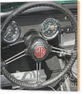 Mg Midget Instrument Panel Wood Print