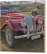 Mg Model Tf 1953 And Ford Model A 1928 Roadsters Wood Print