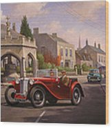 Mg Tc Sports Car Wood Print
