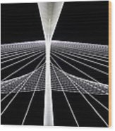 Mhh Calatrava Bridge  Wood Print by Damon Phillips