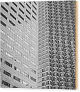 Miami Architecture Detail 2 - Black And White Wood Print by Ian Monk