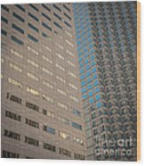 Miami Architecture Detail 2 - Square Crop Wood Print by Ian Monk