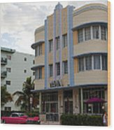 Miami Art Deco Wood Print