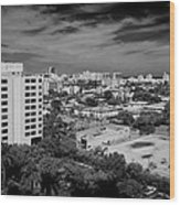 Miami Beach - 0153bw Wood Print