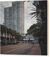 Miami Beach-0166 Wood Print