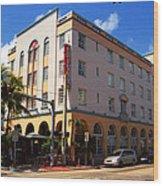 Miami Beach - Art Deco 36 Wood Print