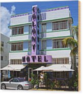 Miami Beach - Art Deco 37 Wood Print