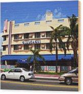Miami Beach - Art Deco 38 Wood Print