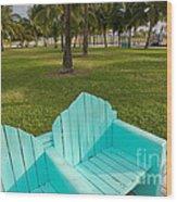 Miami Beach Colors Wood Print