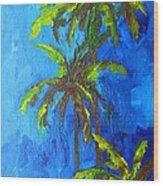 Miami Beach Palm Trees In A Blue Sky Wood Print