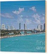 Miami Beach Skyline Wood Print