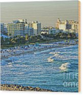 Miami Beach Sunset Wood Print