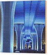 Miami Bridge Wood Print