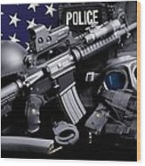 Miami Dade Police Wood Print