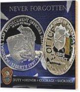 Miami Dade Police Memorial Wood Print