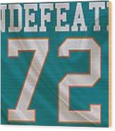 Miami Dolphins Undefeated Season Wood Print