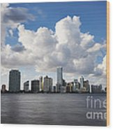Miami Downtown In Slow Wood Print by Eyzen M Kim