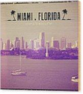 Miami Florida Wood Print
