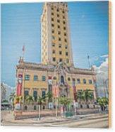 Miami Freedom Tower 4 - Miami - Florida Wood Print by Ian Monk