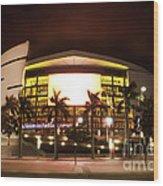 Miami Heat Aa Arena Wood Print