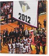 Miami Heat Championship Banner Wood Print