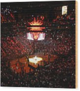 Miami Heat  Wood Print by J Anthony