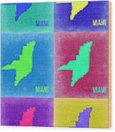 Miami Pop Art Map 3 Wood Print