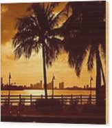 Miami South Beach Romance II Wood Print