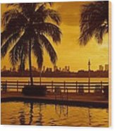 Miami South Beach Romance Wood Print