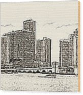 Miami - Venetian Causeway Wood Print