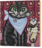 Mice Cream Wood Print