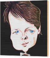 Michael J. Fox Illustration Wood Print by Diego Abelenda