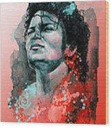 Michael Jackson 13 Wood Print