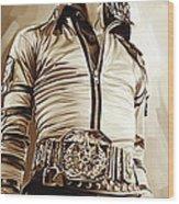 Michael Jackson Artwork 2 Wood Print by Sheraz A