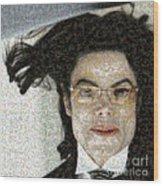 Michael Jackson - Fly Away Hair Mosaic Wood Print