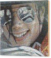 Michael Jackson - Mosaic Wood Print