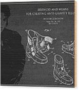 Michael Jackson Patent Wood Print